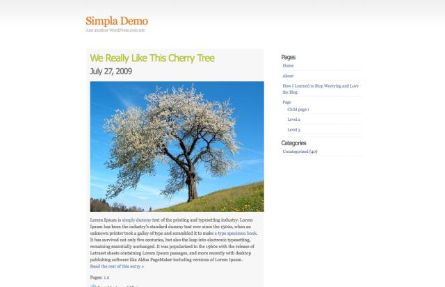 Wordpress Simpla Theme
