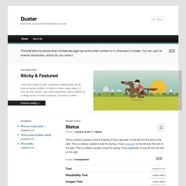 duster screenshots