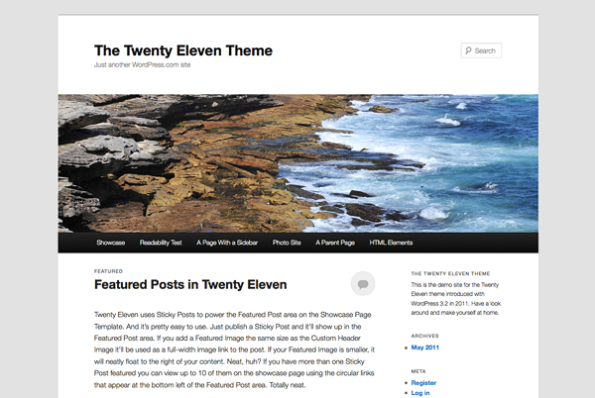 WordPress Twenty Eleven theme demo