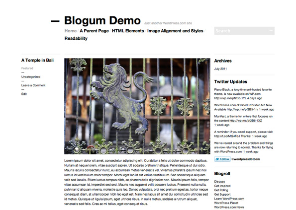 Blogum Screenshot