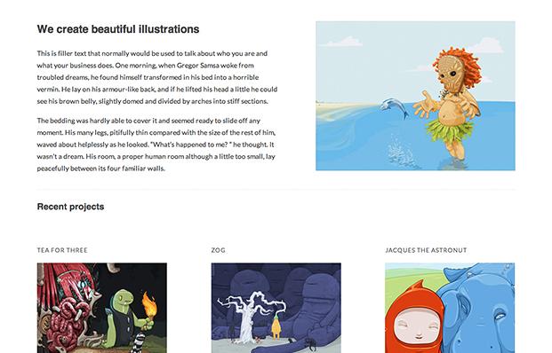 React home page screenshot