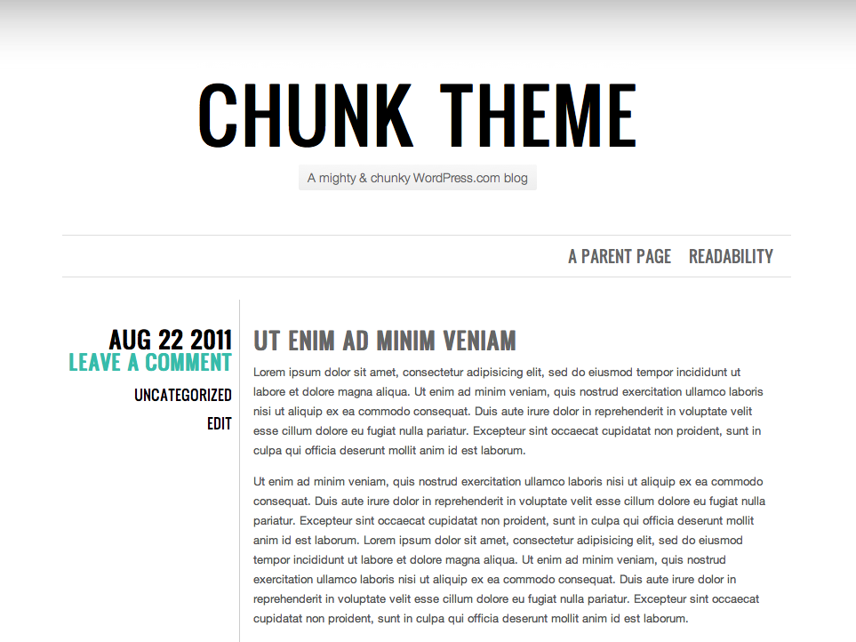 chunk showcase - Best Free WordPress Themes for Mathematics and Science blogs