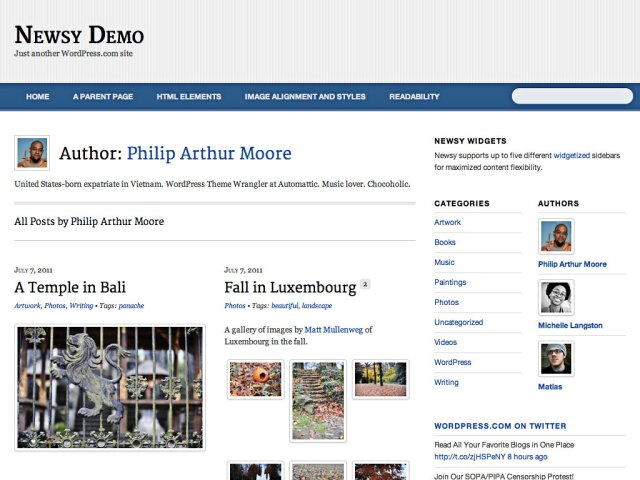 Newsy: Author Template