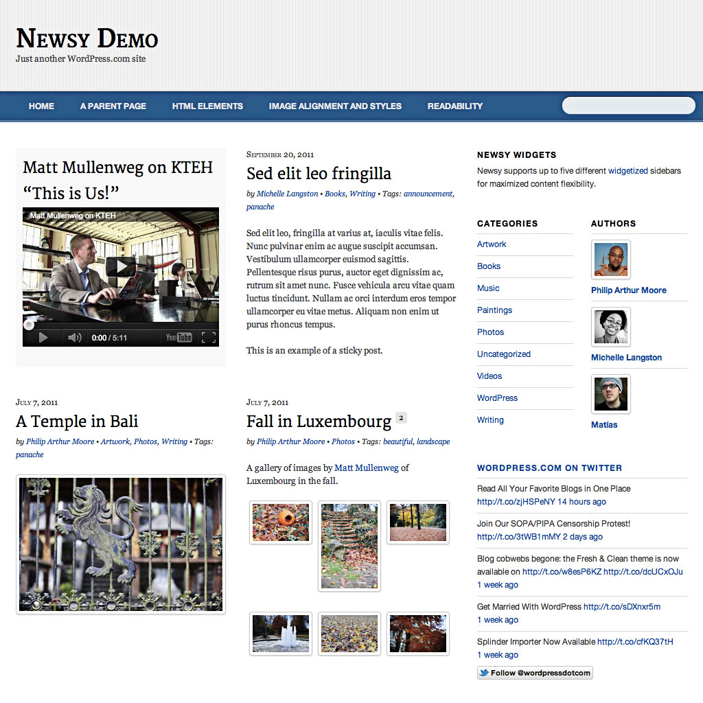 Newsy: Home Page