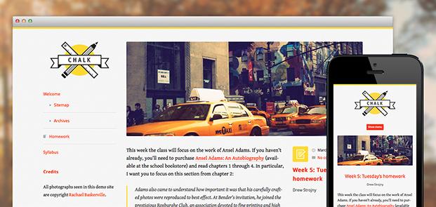 Screenshots of Chalk theme