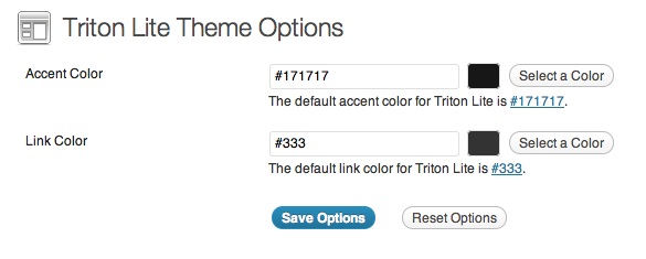 Triton Lite: Theme Options