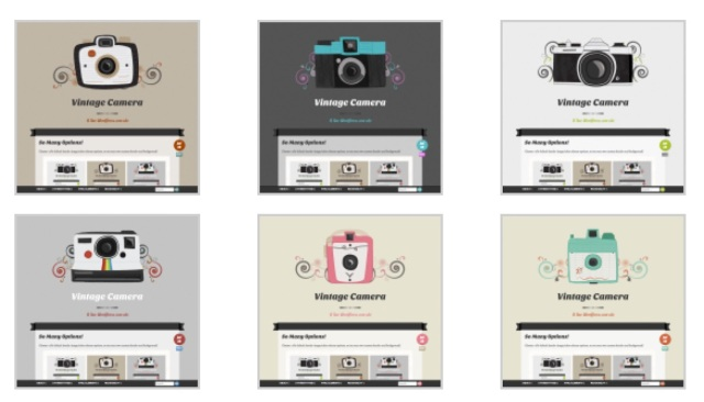 Vintage camera theme colors