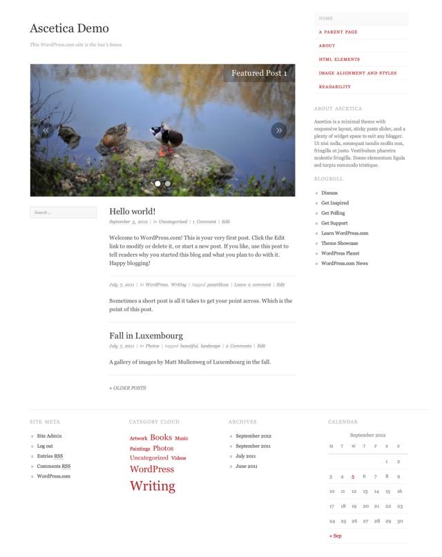 Ascetica WordPress Theme
