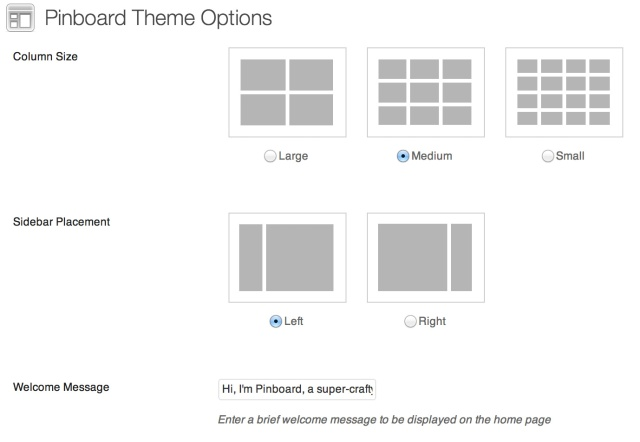 Pinboard Theme Options