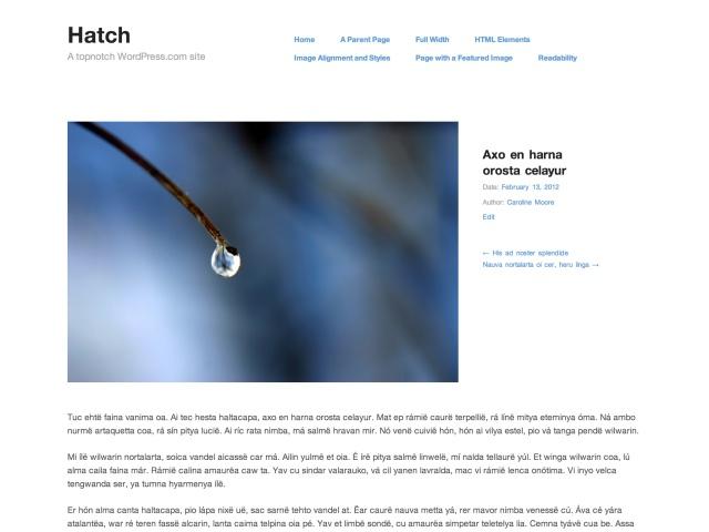 Hatch Subpage
