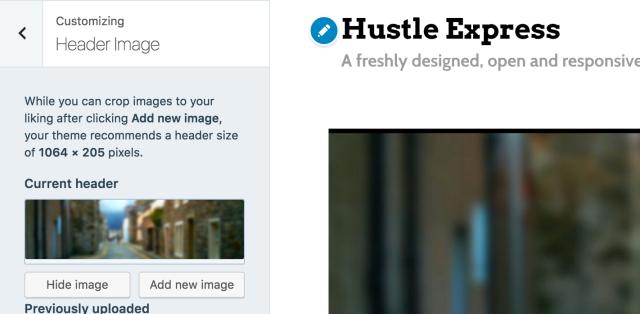 Add custom header to Hustle Express