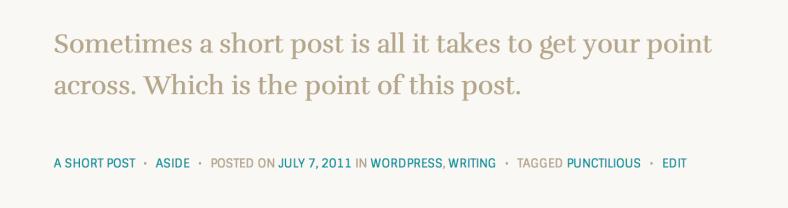 Aside post format