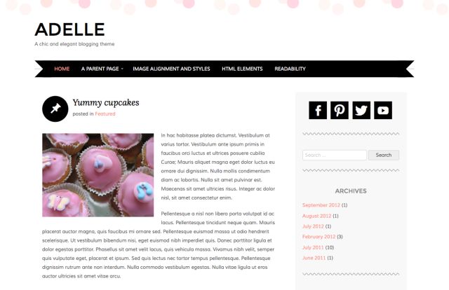 Image result for adelle theme