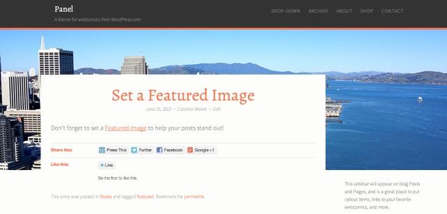Custom Headers & Featured Header Image Example