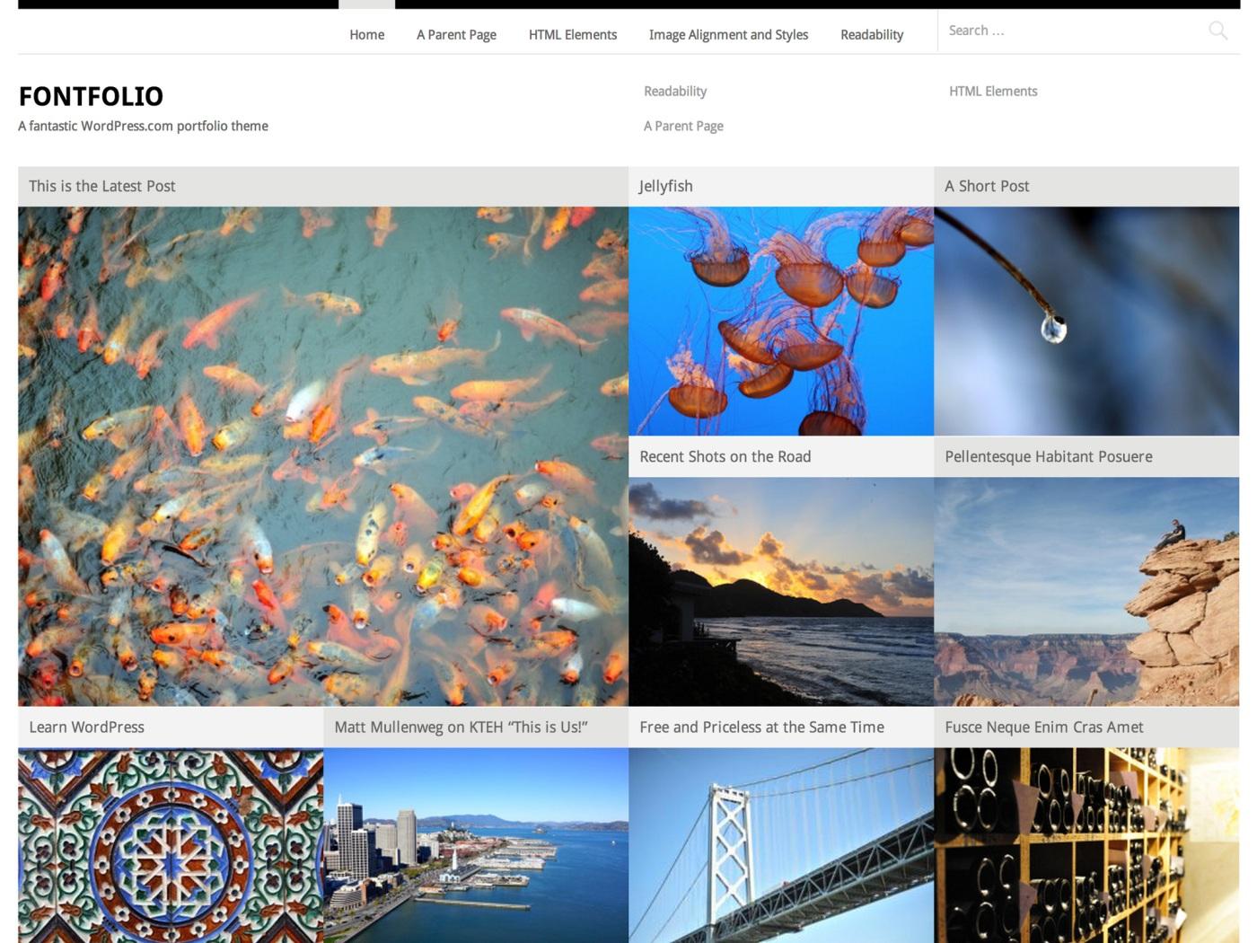 Fontfolio WordPress Theme
