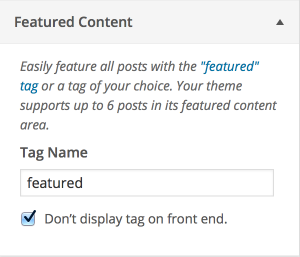 Featured Content Customizer