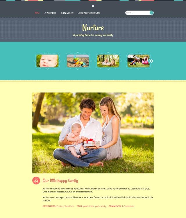 Nurture: Homepage