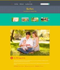 """Nurture: Homepage """"Bright"""" Color"""