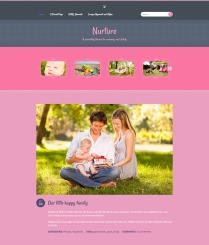 "Nurture: Homepage ""It's a Girl!"" Color"