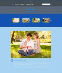 """Nurture: Homepage """"It's a Boy!"""" Color"""
