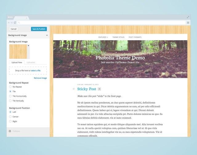 Custom background image wordpress thesis