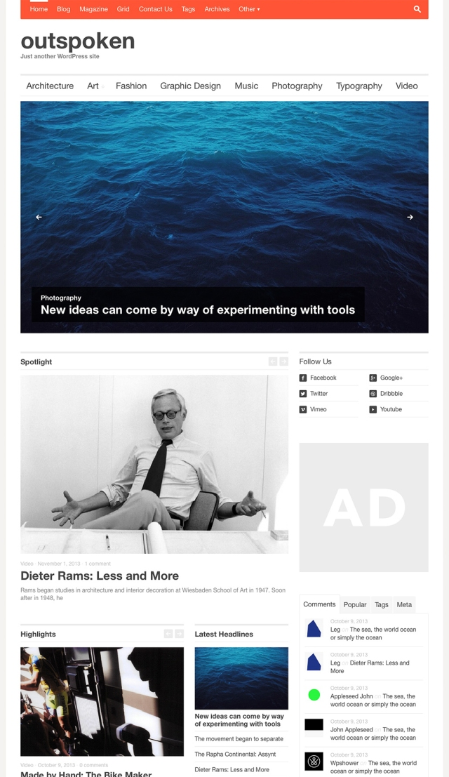 ouspoken-homepage