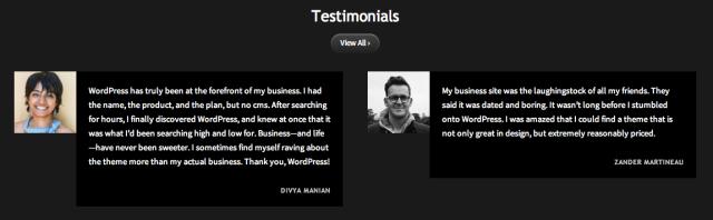Vision Testimonials Sample
