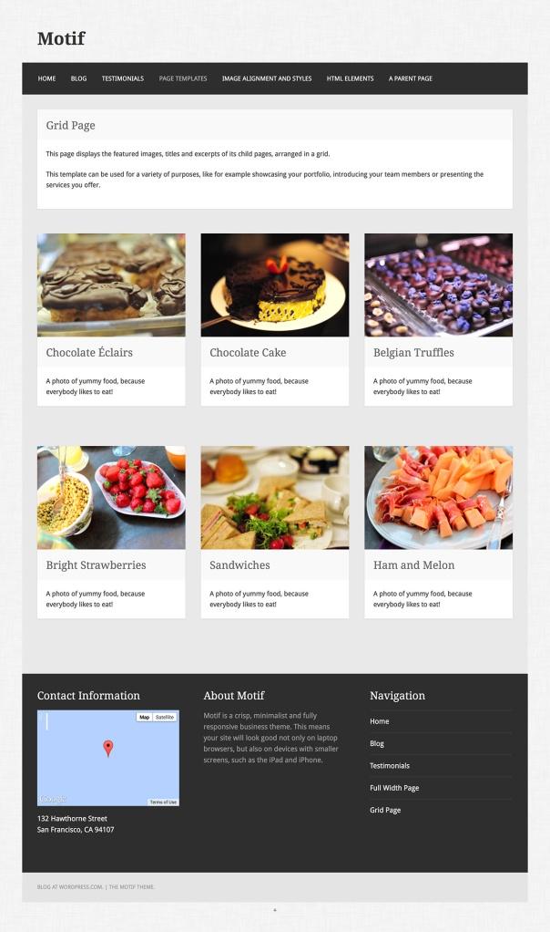 Motif: Grid Page