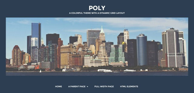 Poly: Custom Menus, Header and Background