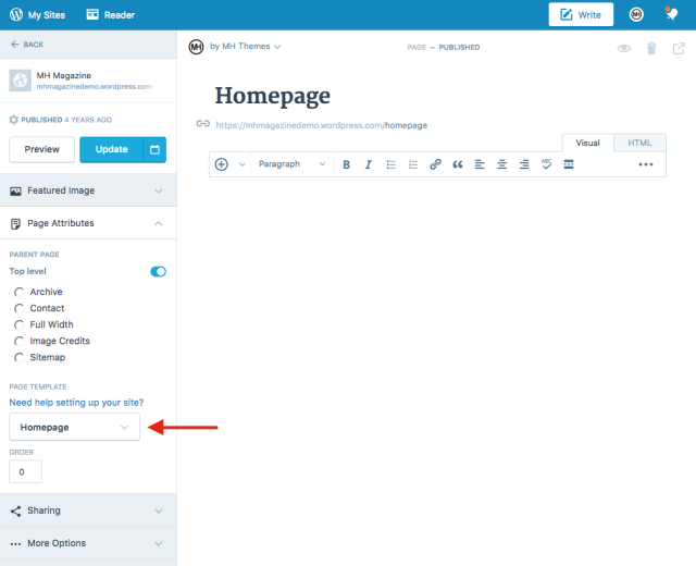 Create Homepage
