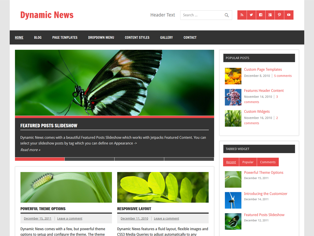 WordPress Themes For Blogs At