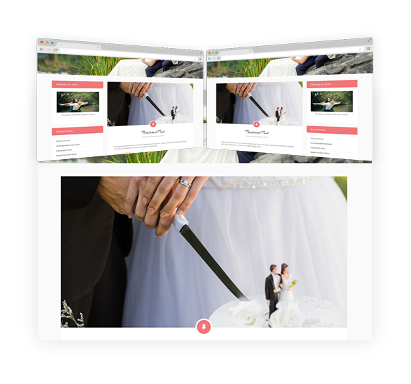 Wedding WordPress Theme Blog Layout