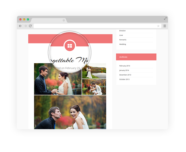 Wedding Theme Post Formats