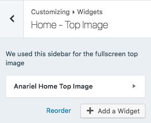 Top image widget