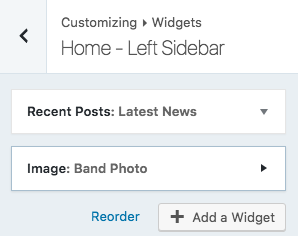 left sidebar widgets