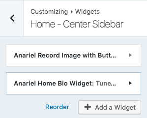 center sidebar widgets