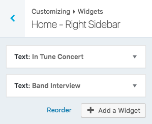 Right sidebar widgets