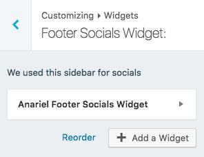 Footer social widget