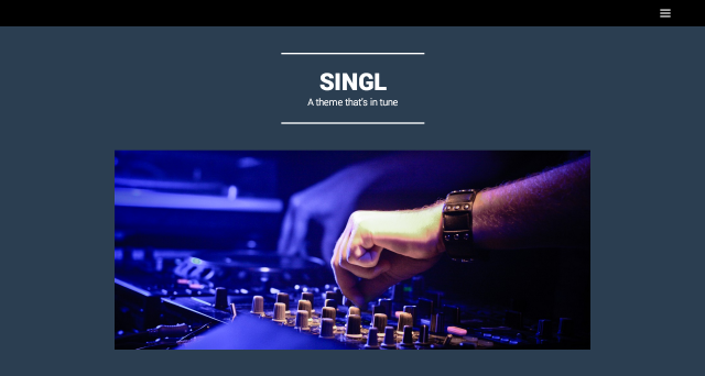 Singl: Custom menu, header and, background