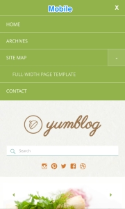 Yumblog - Mobile Menu
