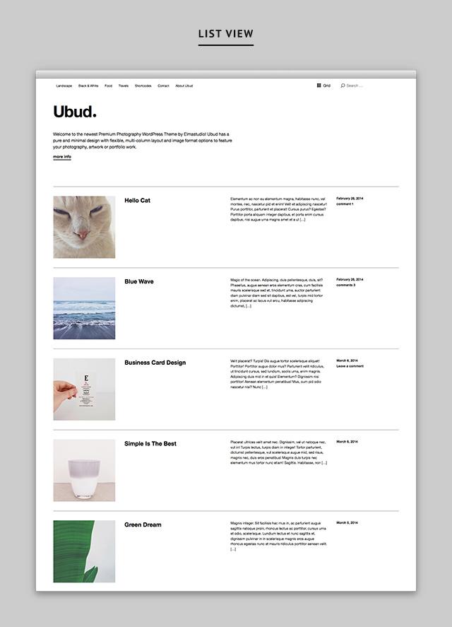Ubud List View