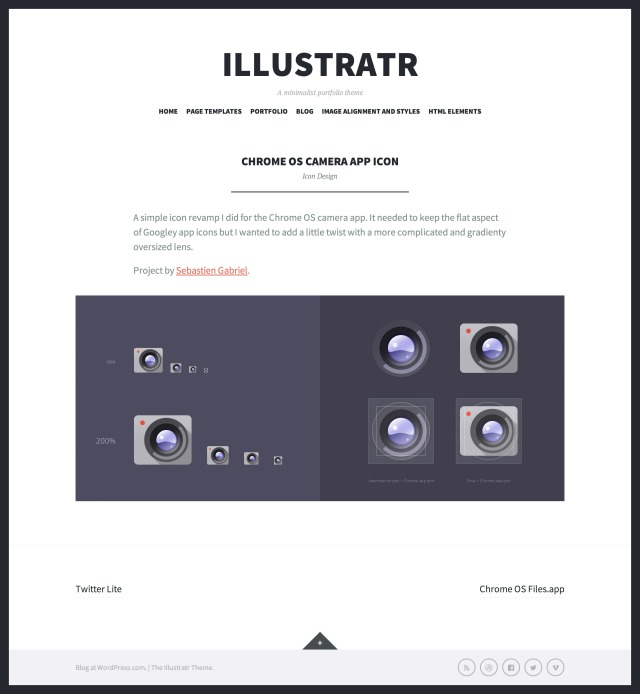 Illustratr: Portfolio single
