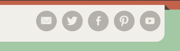 Social Icons in the Header