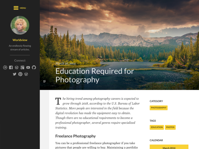 Worldview Theme by UpThemes