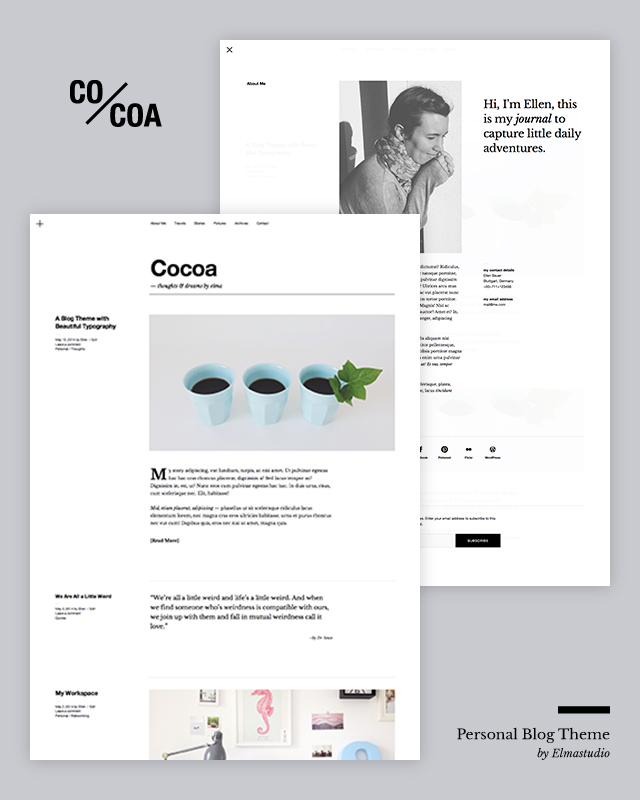 Cocoa Theme — WordPress.com