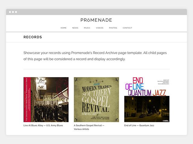 Promenade: Record Archive