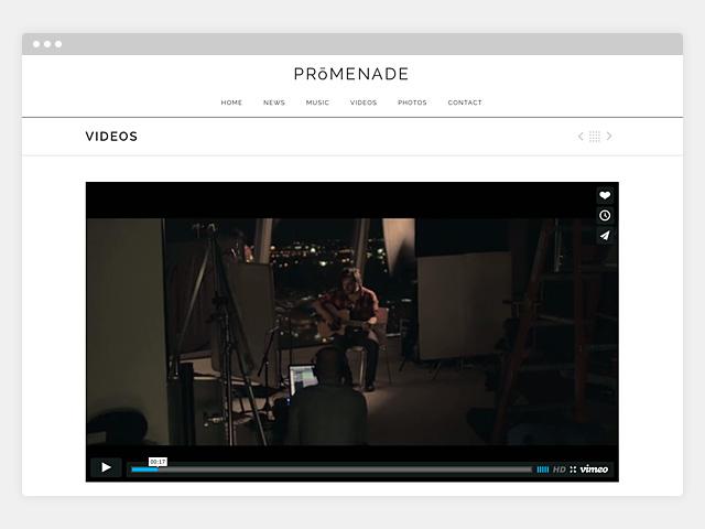 Promenade: Single Video