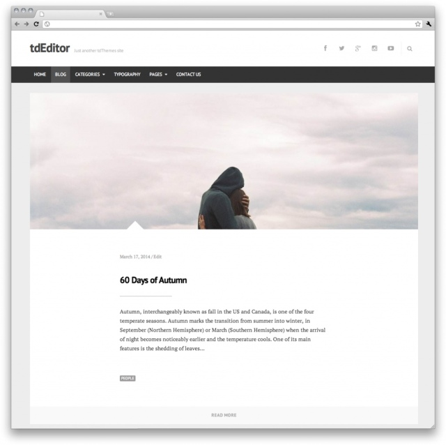 tdEditor Blog One Column