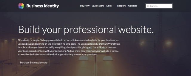 Business Identity Site Title