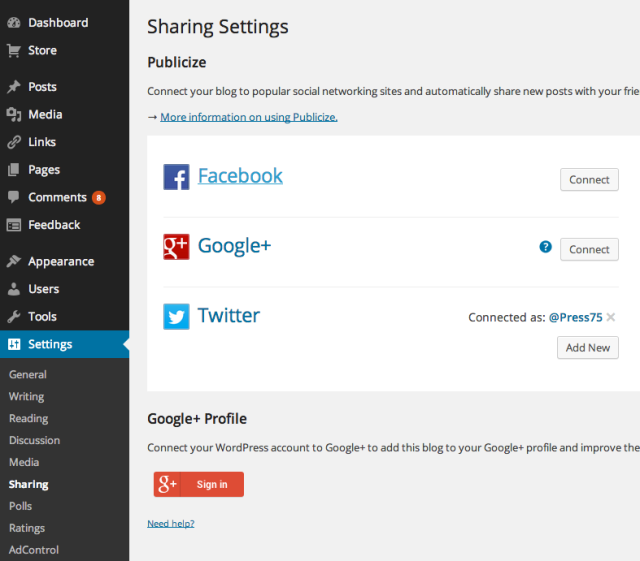 clearnews-share-settings